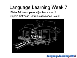 Language Learning Week 7