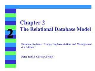 Chapter 2 The Relational Database Model