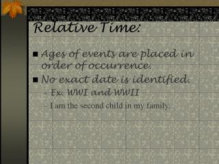Relative Time: