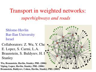 Transport in weighted networks: superhighways and roads