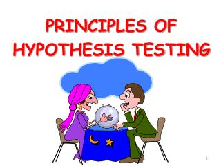 PRINCIPLES OF HYPOTHESIS TESTING