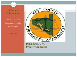 Dan Sowell, CFA  Property Appraiser