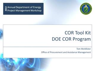 COR Tool Kit DOE COR Program