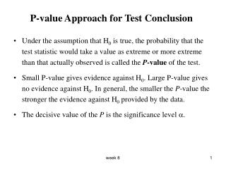 P-value Approach for Test Conclusion