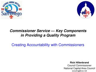 Commissioner Service — Key Components in Providing a Quality Program