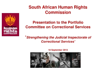Republic of South Africa Judicial Inspectorate for Correctional Services       Quarterly Report to the Portfolio Committ