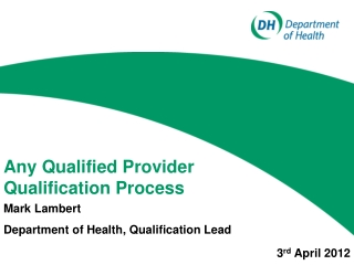 North of England Qualification Process January 2012