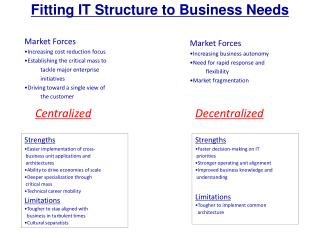 Fitting IT Structure to Business Needs
