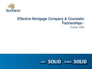 Effective Mortgage Company & Counselor Partnerships -