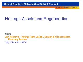 Heritage Assets and Regeneration