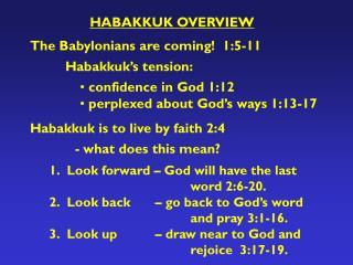 HABAKKUK OVERVIEW