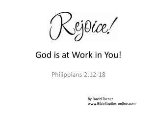 God is at Work in You!
