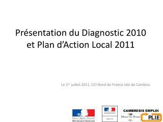 Présentation du Diagnostic 2010 et Plan d'Action Local 2011