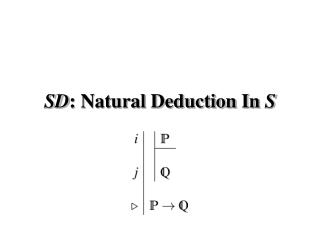 SD : Natural Deduction In  S