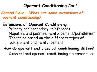 Operant Conditioning Cont…
