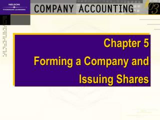 Chapter 5 Forming a Company and Issuing Shares