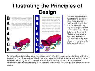 Illustrating the Principles of Design