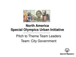 North America Special Olympics Urban Initiative