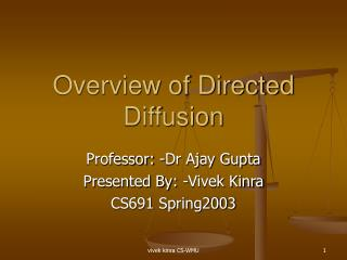 Overview of Directed Diffusion