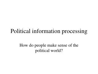 Political information processing