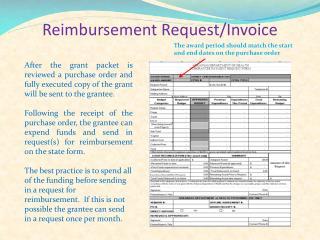 Reimbursement Request/Invoice