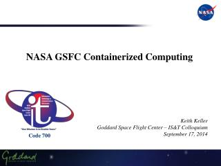 NASA  GSFC Containerized Computing