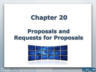 Chapter 20 Proposals and  Requests for Proposals