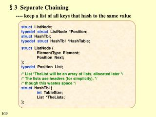 §3  Separate Chaining