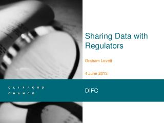 Sharing Data with Regulators