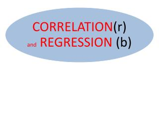 SIMPLE REGRESSION AND CORRELATION