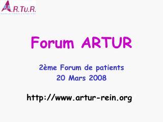 Forum ARTUR