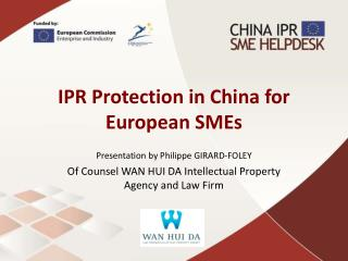 IPR Protection in China for European SMEs
