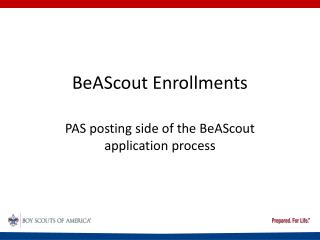 BeAScout Enrollments