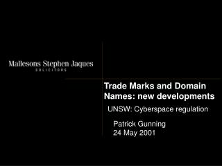 Trade Marks and Domain Names: new developments