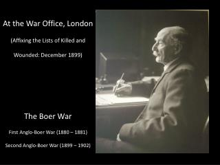 At the War Office, London (Affixing the Lists of Killed and Wounded: December 1899)