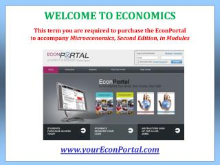 This term you are required to purchase the EconPortal