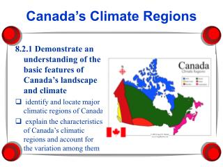 Canada�s Climate Regions