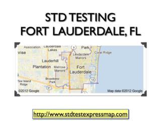 STD Testing Fort Lauderdale