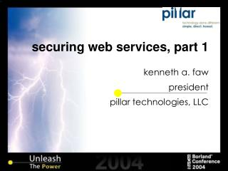 securing web services, part 1