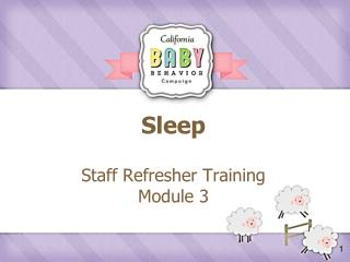 Sleep Staff Refresher Training  Module 3