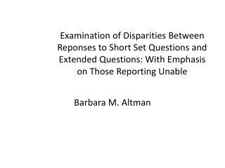 Barbara M. Altman