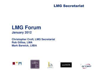 LMG Forum January 2012