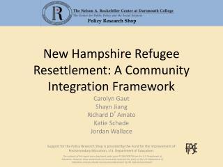 New Hampshire Refugee Resettlement: A Community Integration Framework