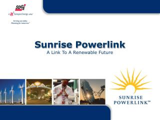 Sunrise Powerlink  A Link To A Renewable Future