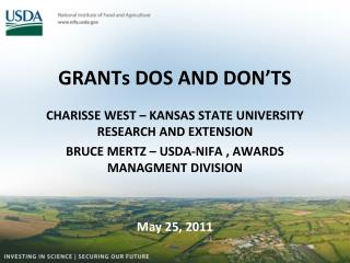 GRANTs DOS AND DON'TS