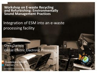 Integration of ESM into an e-waste processing facility