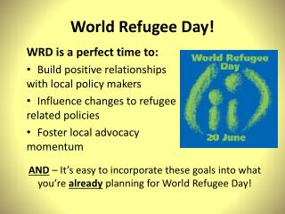 World Refugee Day!