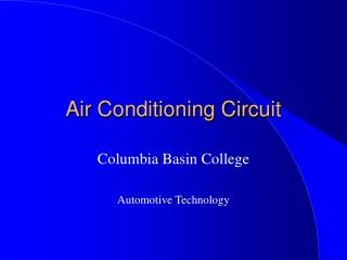 Air Conditioning Circuit