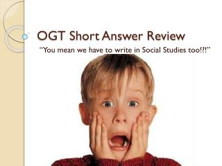 OGT Short Answer Review