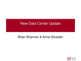 New Data Center Update